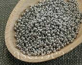 Size 11 seed beads | Czech seed beads | Czech rocailles 20g | Cold Silver seed beads | 11/0 seed beads | 52 MET