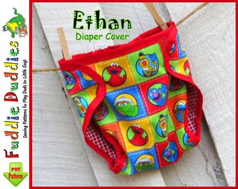 Baby Boy's Diaper Cover Pattern, Bloomer Pattern, Bloomer sewing Pattern, INSTANT DOWNLOAD, Diaper Cover Pattern..... NB-24mo