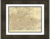 MAP of LIVERPOOL England in a Vintage Grunge Weathered Antique style