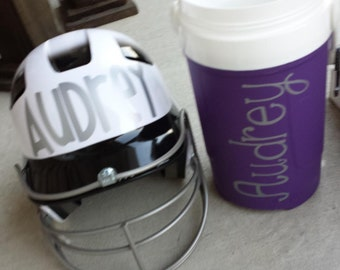 Personalized Monogram Softball Helmet Name and/or accessories