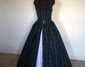 Plaid IRISH Celtic BLACKWATCH YES! and colors available Scottish Renaissance Over Gown Dress Made for you!!!