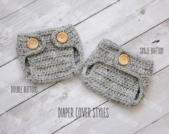Crochet newborn baby diaper covers