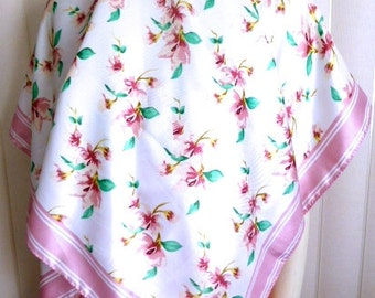 """Vintage Godiva Chocolate Spring Scarf Made in Korea 45 by 45"""""""