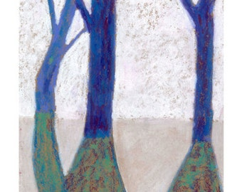Blue Trees in Winter - Signed Limited Edition Print