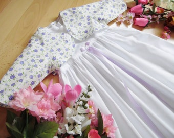 Christening Gown Bolero with floral pattern ,varioussizes,100% Cotton,