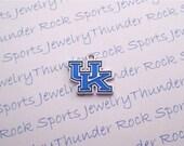 6 Kentucky Wildcats Charms Silver Plated University Logo Pendants
