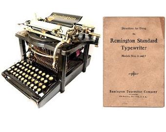 Remington No.6 and No.7 Standard Typewriter User's Manual
