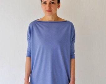 jersey dress oversized shirt dress lavender