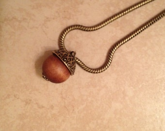 Acorn Necklace, Fall Necklace, Acorn Jewelry