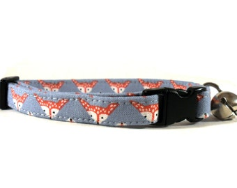 Cat or Small Dog Collar Foxes in Steel