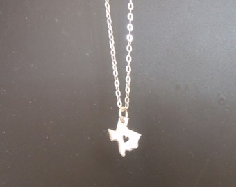 Sterling Silver Texas Charm Necklace Under 35