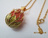 Joan Rivers Faberge style egg necklace