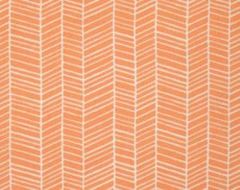 Joel Dewberry Fabric - 1 Fat Quarter Metre FLORA, Herringbone in Carrot