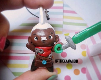 League of Legends Charm EKKO polymer clay hand scupted