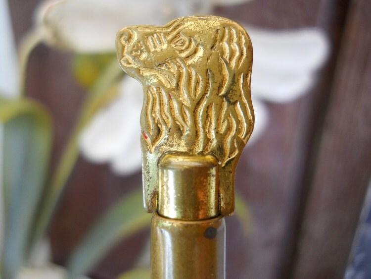 Vintage Brass Dog Slide Whistle 1930s Quaker By