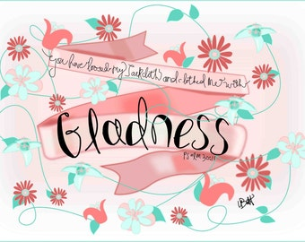 Psalm 30:11 encouragement card printable
