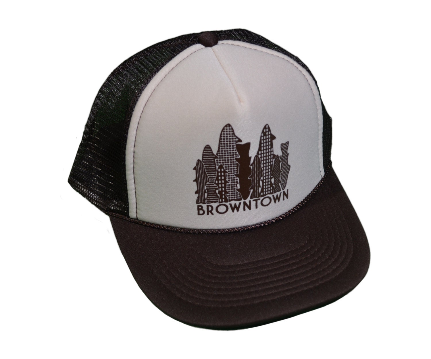 Browntown fly fishing trucker hat for Fishing trucker hats
