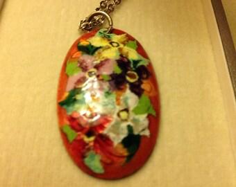 Cloisonne pendant from Japan.