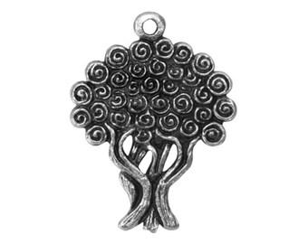 2 Mykonos Tree of Life 1.5 inch ( 40 mm ) Pewter Pendant
