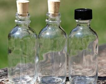 20 Bottles 2 oz. Corks Or Caps Clear Glass Bottle 60ml Empty Glass Bottle Wedding Favor Bottle Baptism Favor Holy Water Bottle Corked Bottle