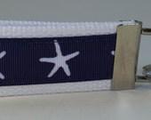 Starfish Nautical Key Chain, Key Fob,  Wristlet