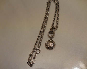 Vintage Victorian Sterling silver necklace and pendant