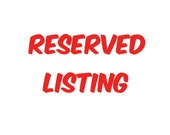 Reserved Listing for Jacqui