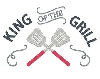 King of the Grill Embroidery Design- Instant Download