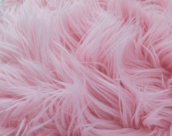 ON SALE!!! Pre-Sale MoHair 60 Inch Faux Fur Baby Pink Fabric by the Yard, 1 yard