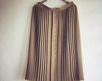 Midi Skirt, Pleated Skirt, Made in UK, British, Womens Skirts,High Waisted Skirt, UK size 16, Pleated Midi Skirt, Vintage Skirt, Green Skirt