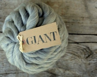 GIANT Yarn - 10,5 oz / 300gr - Natural GREY Merino - Arm Knitting Yarn - Super Chunky Yarn