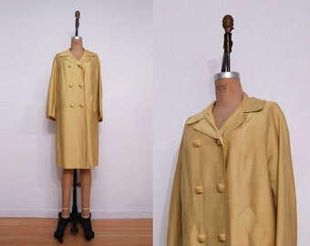 1960s yellow mod jacket | 1960s pastel double breasted spring jacket