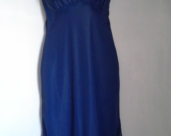 Vintage navy blue slip dress small