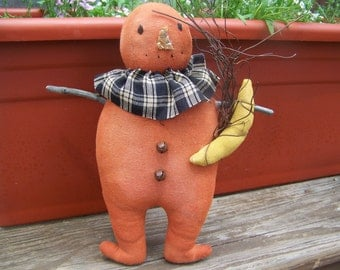 Primitive Pumpkin Man Doll