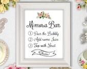 Printable Mimosa Bar Sign INSTANT DOWNLOAD // 8x10 // Wedding // Bridal Shower