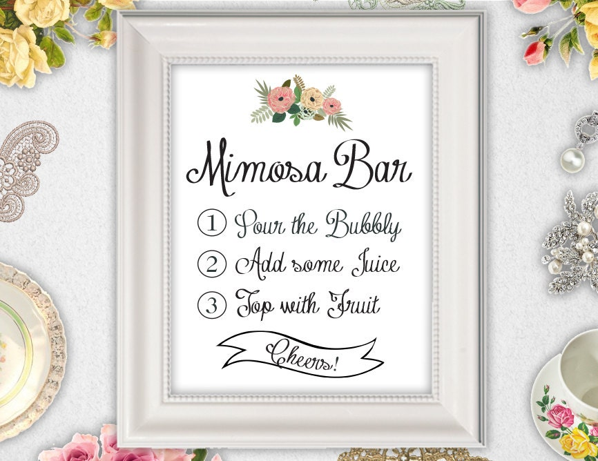 Remarkable image intended for mimosa bar sign printable free