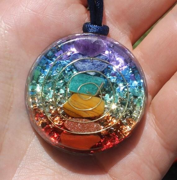 7 Chakras Orgone Crystal Healing Pendant