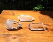 3 Clear Quartz Crystals - Vogel 12 sided cut - Cleansed during Full Moon Lunar Eclipse