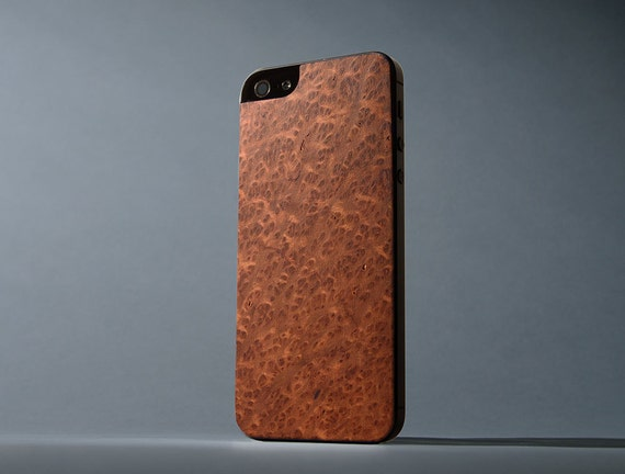 Redwood Burl iPhone 5/5s/SE Real Wood Skin - Made in the USA - FREE Shipping