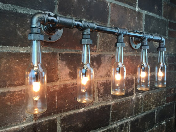 industrial vanity light bottle chandelier steampunk 13234