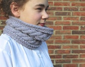 KNITTING PATTERN Cowl Corn Rows Cable Knitting Pattern Short Cowl Womens Teenager Fashion Ideal for Beginners Winter Accessory