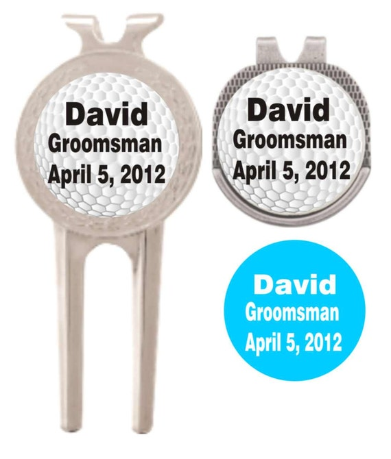 custom divot tool and ball marker, golf ball marker, hat clip and divot tool, gift for dad, groomsman gift, father of the bride gift,