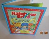 Vintage 1984 80s Rainbow Brite Book Happy Birthday Buddy Blue Lyn Calder HC Golden book