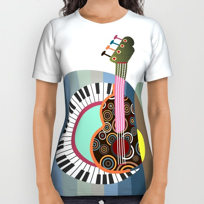 Music T Shirt, Printed T Shirt, Designer T Shirt For Women, T ...