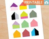 Swedish Houses Waldorf Montessori Printable - DIY Print 8x10 and 11x14 sizes