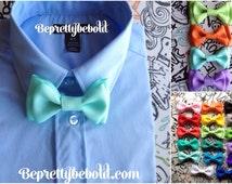 Seafoam Blue Bow tie Mint Bowtie & Suspender Set Gray Boy Bowtie Newborn Clothing Red Toddler Necktie Groomsmen Accessories Baby Shower Gift