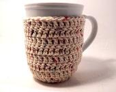 Crochet cup cozy coaster baige-Mug cozy coffee cup cozy Spring Summer and Fall-ecru