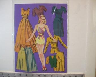 "Vintage 1943 ""Adele Marie"" paper doll-partial set  Lowe #1048  1943"