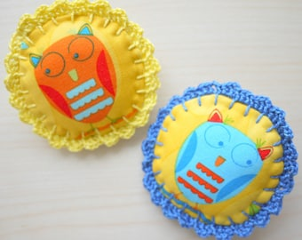 Fabric Brooch - Set of 2