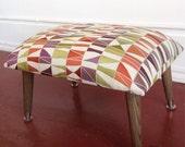 Retro fabric foot stool